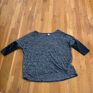 Divided black and gray sweater size large
